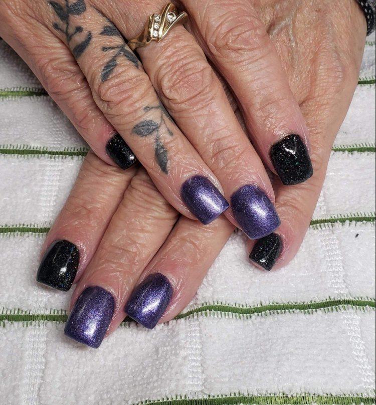 Black and Purple Acrylics Sarah CDA