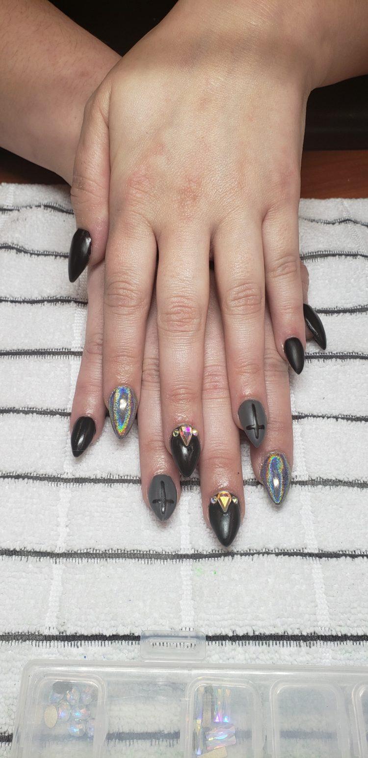 acrylic nails CDA stiletto