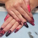 Black + Pink Acrylics