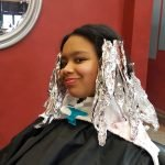 During Afro Hair Color