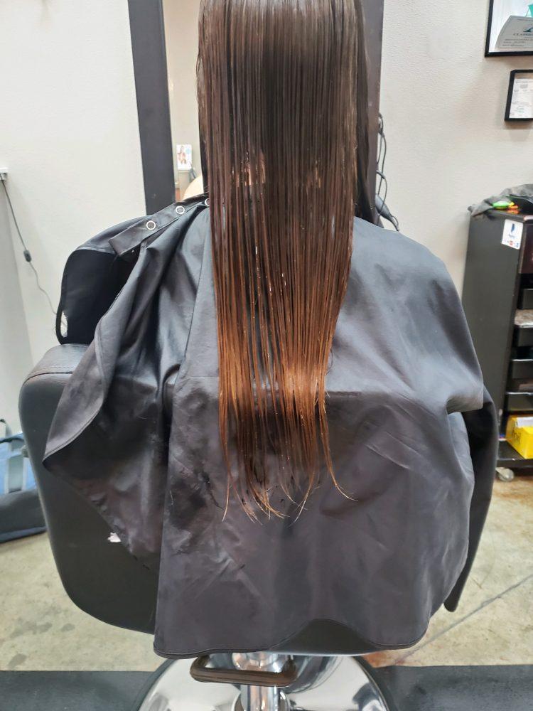 Long Hair Cut CDA Before